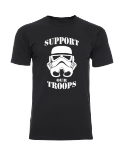 OKAZJA! SUPPORT OR TROOPS czarna S
