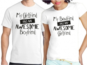 KOSZULKI AWESOME BOYFREND GIRLFRIEND