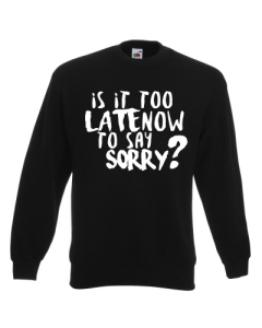 BLUZA IS IT TOO LATE NOW TO SAY SORRY?
