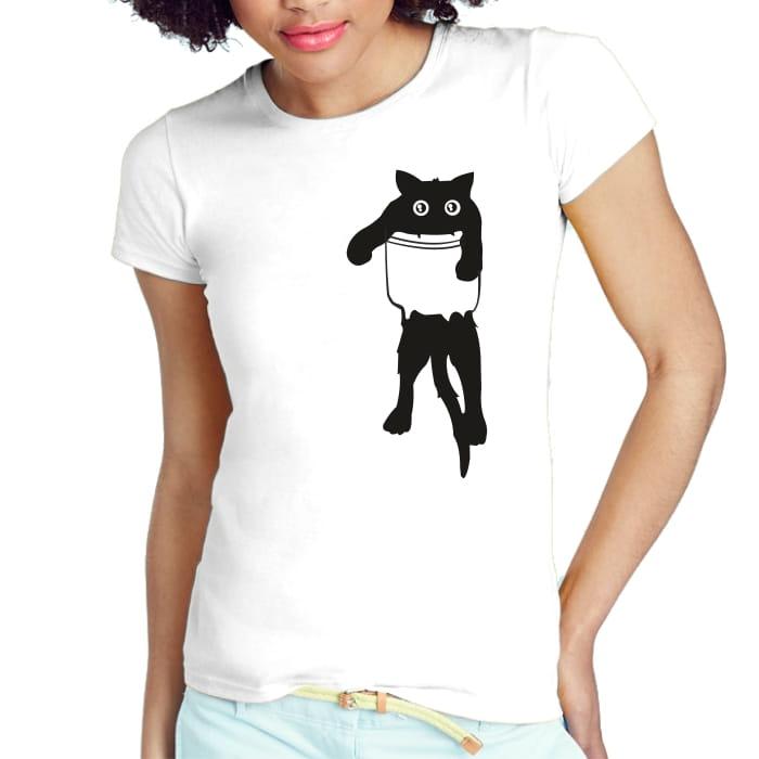 Koszulka Z Kotem W Kieszeni Kieszonce Strefa90